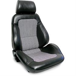 Procar Rally Black Bucket Seats w/ Houndstooth Inserts