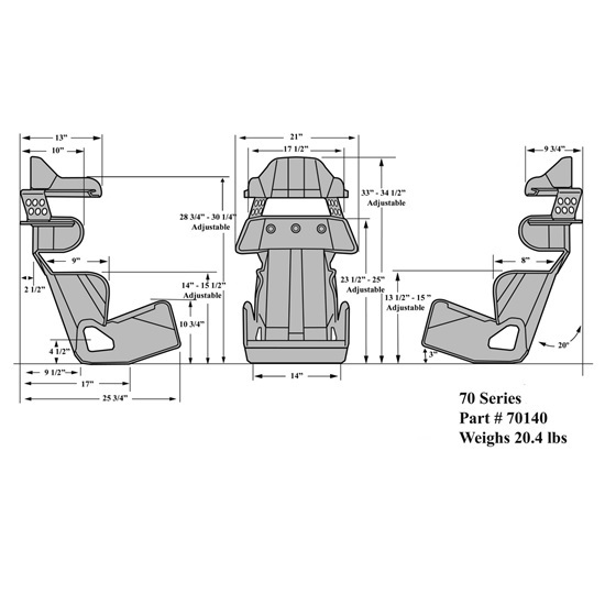 """KIRKEY ROAD RACE ECONOMY FULL CONTAINMENT SEAT W// HEAD /& SHOULDER KIT,15/"""""""