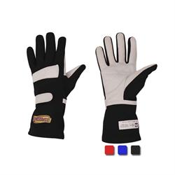 Speedway Single Layer Nomex Racing Gloves, SFI-1, Leather Palm