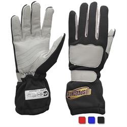 Speedway Double Layer Nomex Racing Gloves, SFI-5, Leather Palm