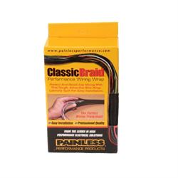 Painless 70960 1 Inch ClassicBraid Wire Sleeving, 12 Feet