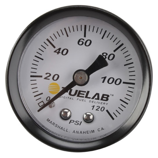 Fuelab 71501 Fuel Pressure Gauge, 0-120 PSI