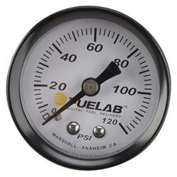 Fuelab 71501 Fuel Pressure Gauge, 0-120 PSI