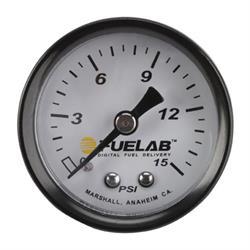 Fuelab 71502 Fuel Pressure Gauge, 0-15 PSI
