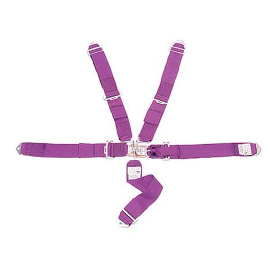 Crow 11005 Bolt-In 5-Point Racing Harness, Pull Down, Purple