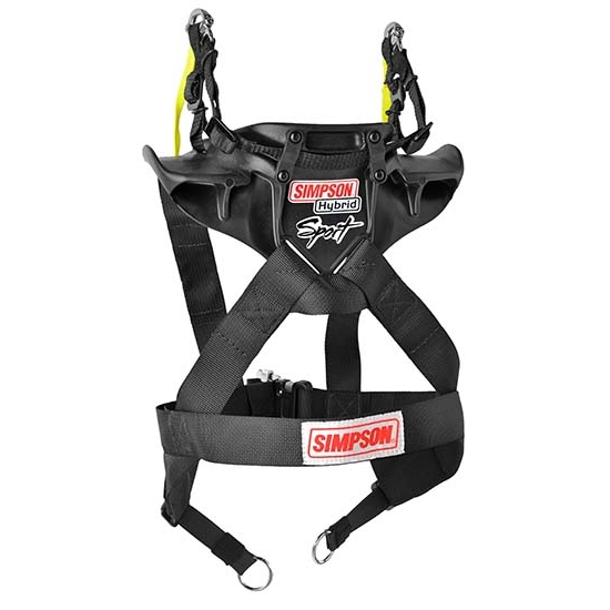 Simpson Racing Hybrid Sport Head and Neck Restraint, Sliding Tether