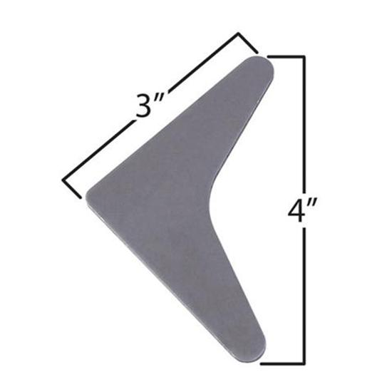 Large Solid Roll Bar Gussets - Pack of 5
