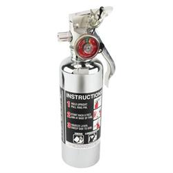 H3R Performance HG100C HalGuard 1.4 Lb. Fire Extinguisher, Chrome