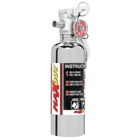 H3R Performance MX100C Max-Out 1.0 Lb. Fire Extinguisher, Chrome