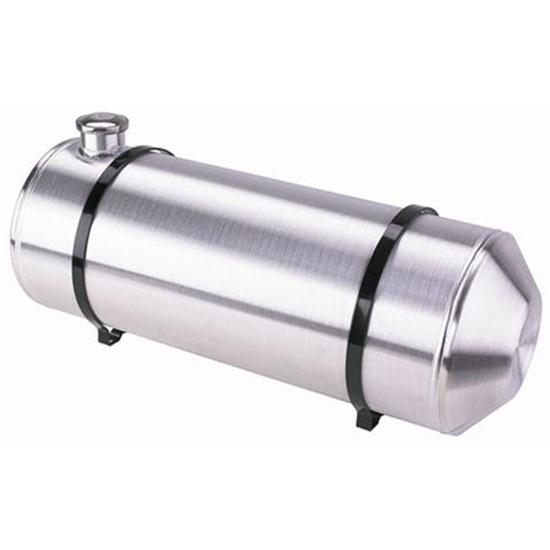 Extended 6 inch Aluminum Fill Neck with Vented Gas Cap Spun Aluminum Gas Tank
