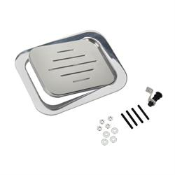 Speedway Polished Billet Aluminum Rectangular Fuel Fill Filler Door