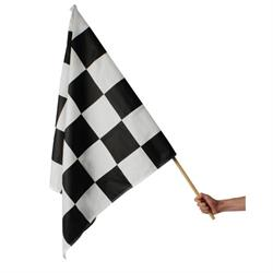 Speedway Race Track Checkered Flag, 36 x 36 Inch