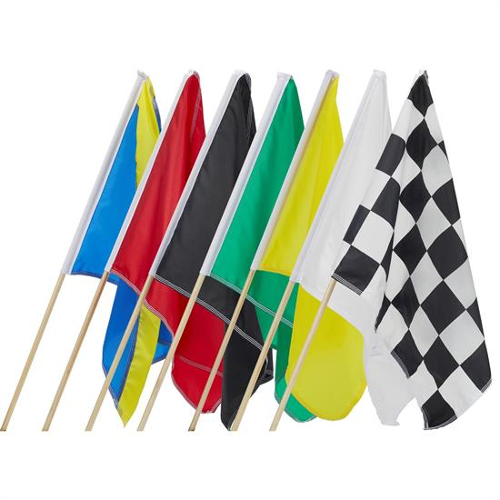 Speedway Race Track Flag Set, 36 x 36 Inch, Set of 7