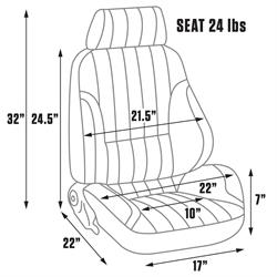 Procar 80-1000-51R-LEATHER Rally Seat, Passenger, Leather
