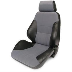 Procar 80-1000-73LS Rally Smoothback Seat, Driver, Vinyl/Velour