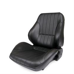Procar 80-1050-51L-LEATHER Rally Lowback Seat, Driver, Leather