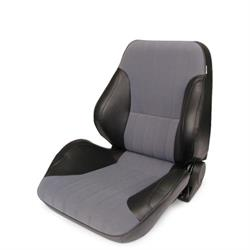 Procar 80-1050-73L Rally Lowback Seat, Driver, Vinyl/Velour