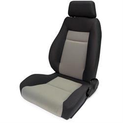 Procar 80-1100-75L Elite Seat, Driver, Velour/Velour
