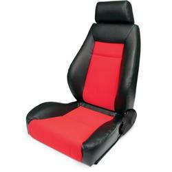 Procar 80-1100-90L Elite Seat, Driver, Vinyl/Velour