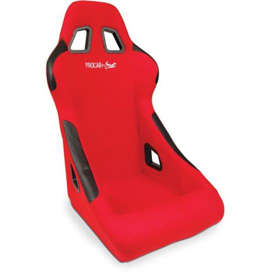 Procar 80-1790-64 Pro-sport Seat, Red, Velour