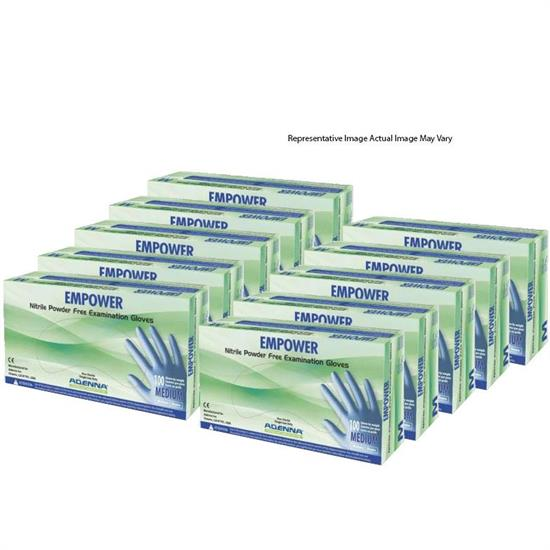 Empower 8mm Nitrile Powder Free Exam Gloves, Case