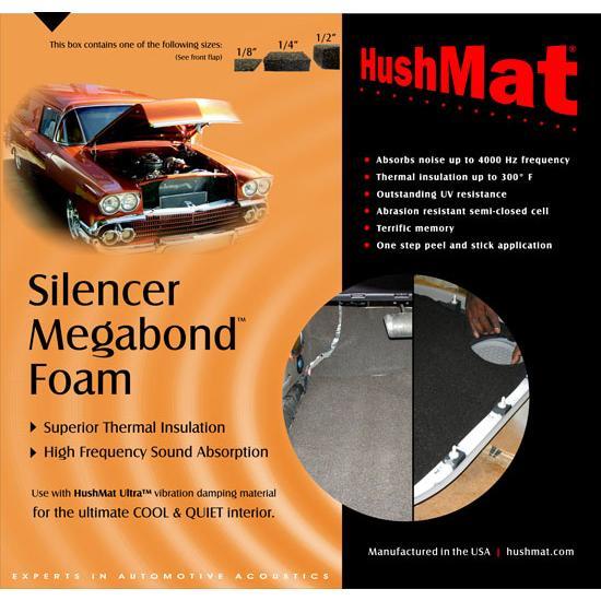 HushMat 20200 Silencer Megabond 1/4 In  Sound & Thermal Insulation Kit