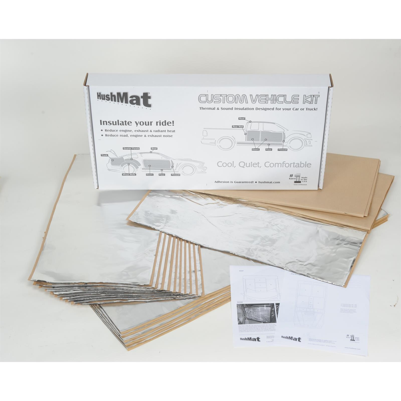 Hushmat 621671 Sound and Thermal Insulation Kit 1967-69 Camaro Floor