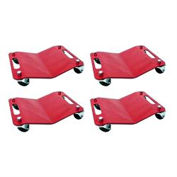 Set of Four Wheel Dollies W/Handles