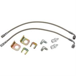 Stainless Steel 90 Degree End Brake Hose Kit, 1964-72 GM, 15 Inch