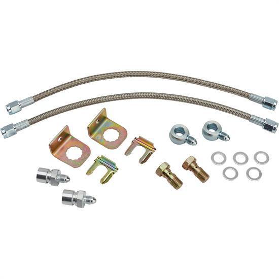 Gold Hose /& Stainless Banjos Pro Braking PBF9095-GLD-SIL Front Braided Brake Line