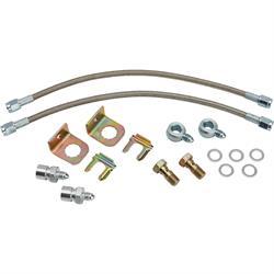 Gold Hose /& Stainless Banjos Pro Braking PBF5034-GLD-SIL Front Braided Brake Line