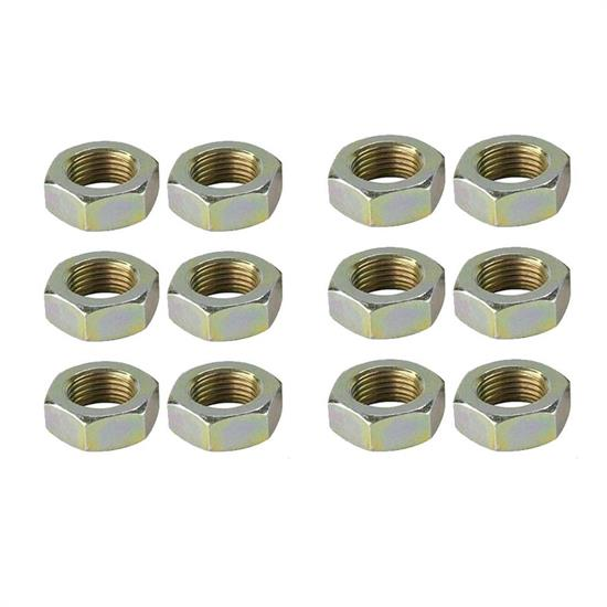 11//16 Inch-18 Right Hand NF Fine Thread Pack//6 Steel Jam Nuts