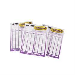 Lap Timing Sheets, Pack/3