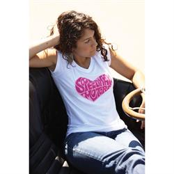 Speedway Heart Ladies Vintage T-Shirt