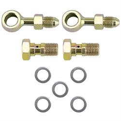 Speedway 10mm x 1.00 Inch to -4 AN Banjo Bolt and Fitting Kit