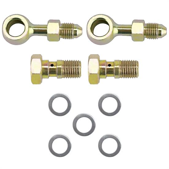 Speedway 10mm x 1.25 Inch to -3 AN Banjo Bolt and Fitting Kit