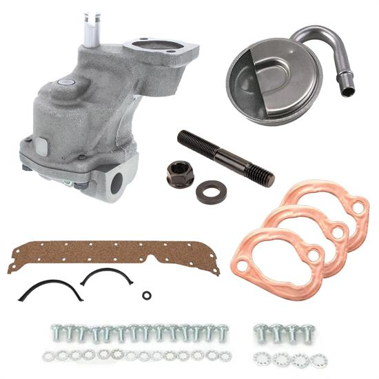 Small Block Chevy Oil Pump Refresh Kit, High Volume, LH Dipstick