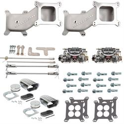 Dual Quad Cross Ram Adapter Kit with AVS2 Carburetors and Linkage