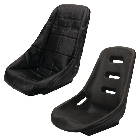 EMPI Poly Low Back Comfort Bucket Seat with Cover, Black