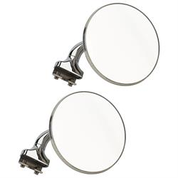"4/"" Stainless Universal Peep Mirror Left Or Right Door Edge Chrome Hardware Inc"