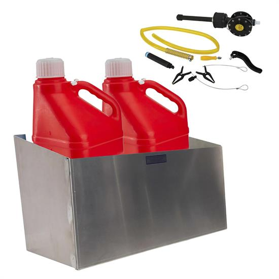 Flo-Fast 5 Gallon Pump System with Utility Jugs and Storage Rack