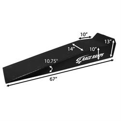 Race Ramps 67 Inch Long Ramps with 4 Rubber Wheel Chocks