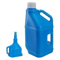Utility Jug with Funnel, Blue, 5 Gallon