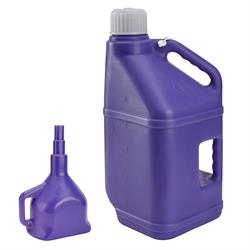 Utility Jug with Funnel, Purple, 5 Gallon