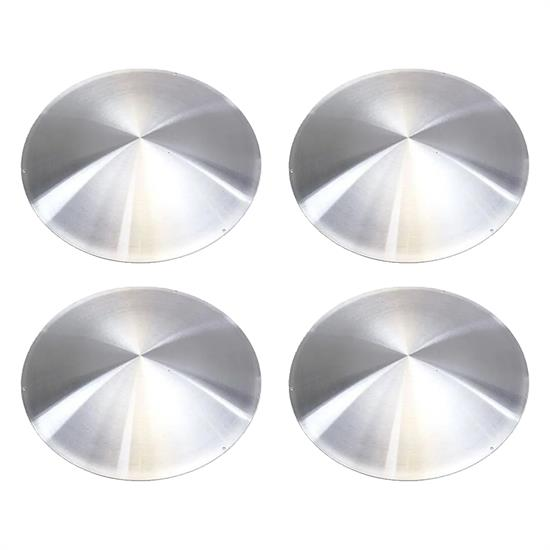 Spun Aluminum Disc 15 Inch Wheel Covers, Set of 4