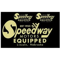 Retro Speedway Logo Decal Sheet