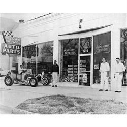Vintage Exterior Speedway Print