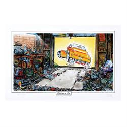 Limited Edition Signed George Trosley Print - (Car) Neat As A Pin
