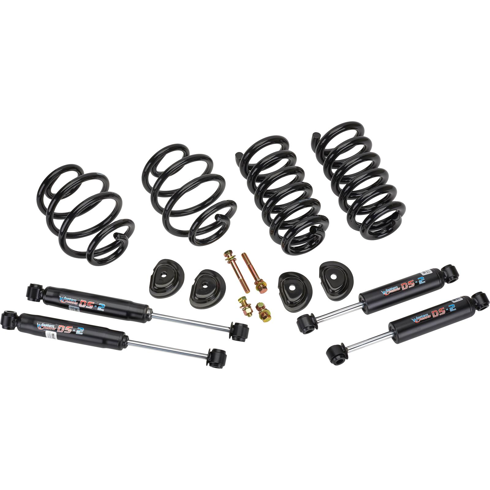 63-72 CHEVY C10 TRUCK FRONT STOCK SHOCK AND COIL SPRING KIT W// SHOCK SUPPORT