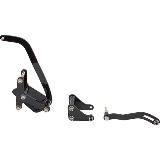 Bills Hot Rod Co. SBC P/S and Alternator Brackets, Black